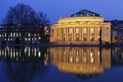 Staatstheater (Stuttgart Theatre and Opera House) at Night-Markus Lange-Photographic Print