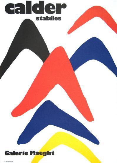 Stabiles, 1971-Alexander Calder-Art Print
