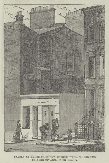 Stable at Rydon-Crescent, Clerkenwell, Where the Seizure of Arms Took Place--Giclee Print