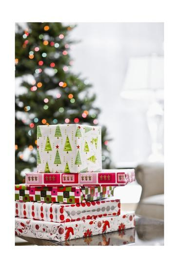Stack of Christmas Gifts--Giclee Print
