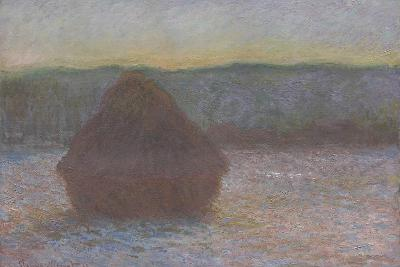 Stack of Wheat (Thaw, Sunset), 1890-91-Claude Monet-Giclee Print