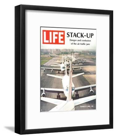 Stack-Up, Air Traffic Jam, August 9, 1968-Bob Gomel-Framed Premium Photographic Print