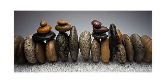 Stacked River Stones-Steve Gadomski-Premium Photographic Print