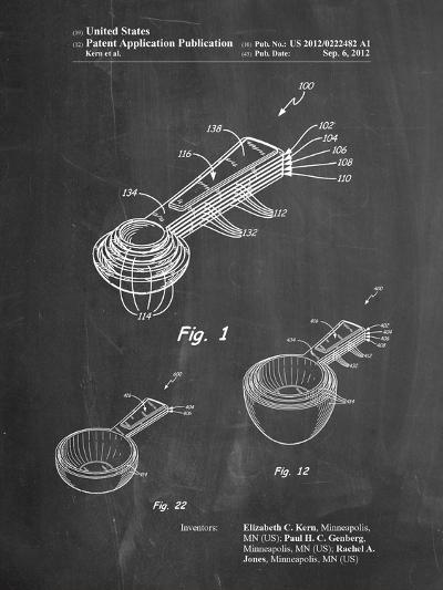 Stacking Measuring Cups Patent-Cole Borders-Art Print
