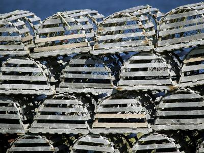 Stacks of Lobster Pots-Pete Ryan-Photographic Print