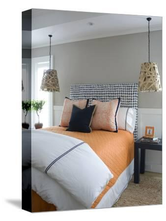 Double Bed with Matching Pendant Lights