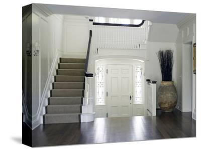 Entrance Hall and Staircase in Shelley Morris Designed Colonial Style Residence
