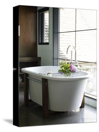 Freestanding Bathtub in Bathroom in Usa Home