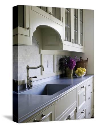 Kitchen Sink Detail in Shelley Morris Designed Colonial Style Residence