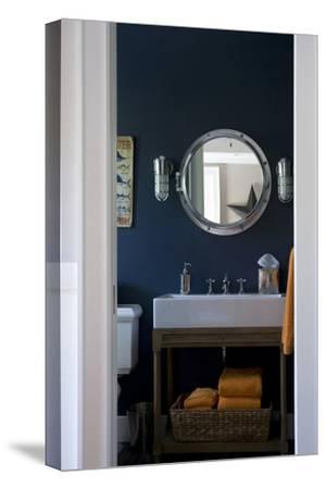 View into Nautical Style Bathroom