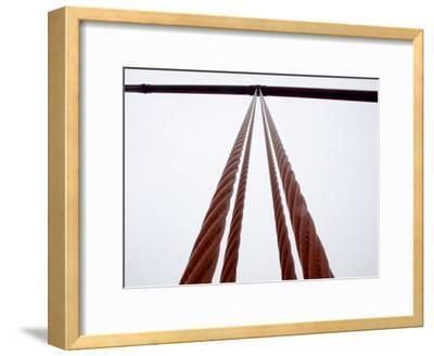 Close View of the Golden Gate Bridge Cables