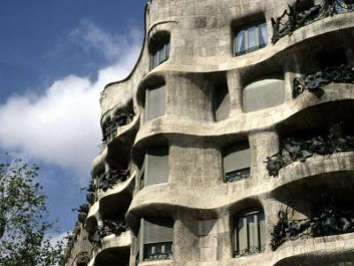 Gaudi Designed Apartment Building in Barcelona, Casa Mila, Barcelona, Spain, Europe by Stacy Gold