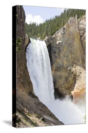 Lower Yellowstone Falls Cascades over Steep Cliffs