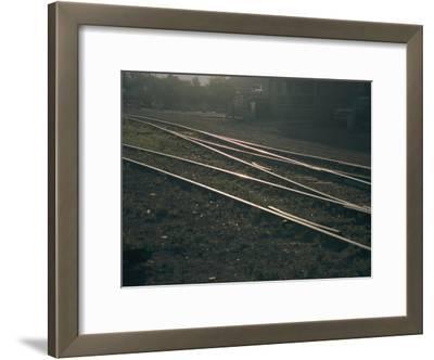 Morning Sun Highlights the Tracks of This Railroad That Runs Through Santa Fe, New Mexico
