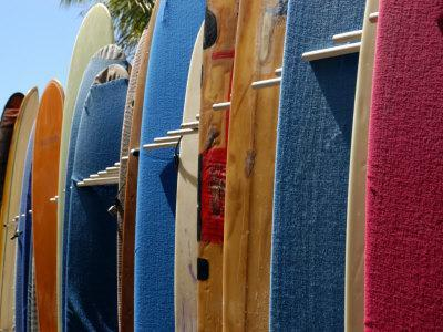 Row of Surfboards, Waikiki Beach, Hawaii