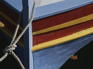 The Brightly Colored Bow of a Boat, Docked at Collioure, France by Stacy Gold