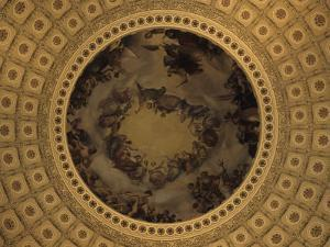 The Interior Dome of the Capitol Building in Washington, D.C., District of Columbia, United States by Stacy Gold