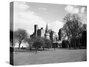 A View of Cardiff Castle, Wales, Circa 1940 by Staff