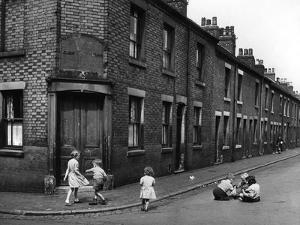 Children playing in Staffordshire 1953 by Staff