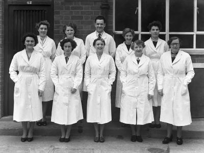 Staff from Schonhuts Butchery Factory, Rawmarsh, South Yorkshire, 1955-Michael Walters-Photographic Print
