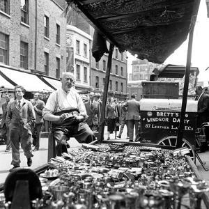 Leather Lane in Holborn. Circa 1954 by Staff