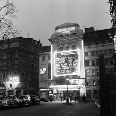 Leicester Square Theatre in London's West End. April 1958