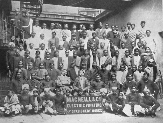 'Staff of Macneill & Co.'s Printing and Stationery Works, Calcutta', 1917-Unknown-Giclee Print