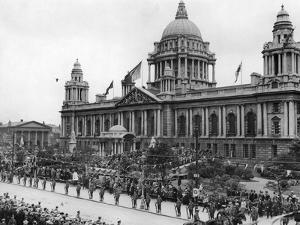 Scene Outside the City Hall in Belfast During the Opening Ceremony. 13th June 1921 by Staff