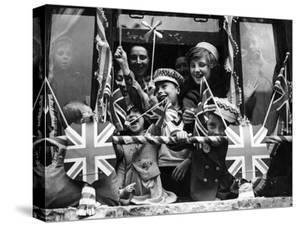 Street Party for Coronation of Queen Elizabeth Ii by Staff