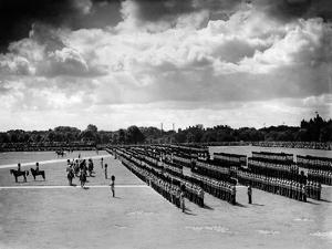 The King Inspecting the Guards in Hyde Park, 1935 by Staff
