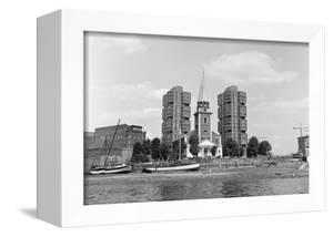 View across the Thames at Battersea. 21st August 1971 by Staff