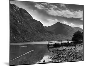 View of the hills overlooking Loch Shiel and the Glen 29/08/1946 by Staff