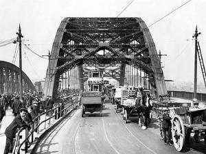 Wearmouth Bridge in Sunderland in the 1930s by Staff