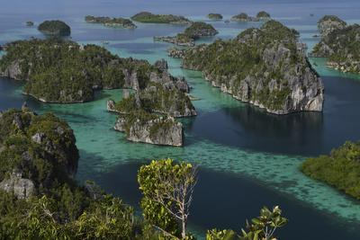 Karst islands in Misool archipelago, Raja Ampat, Western Papua, Indonesian New Guinea