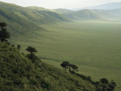 Looking Down into Ngorongoro Crater, Tanzania, East Africa, Unesco World Heritage Site