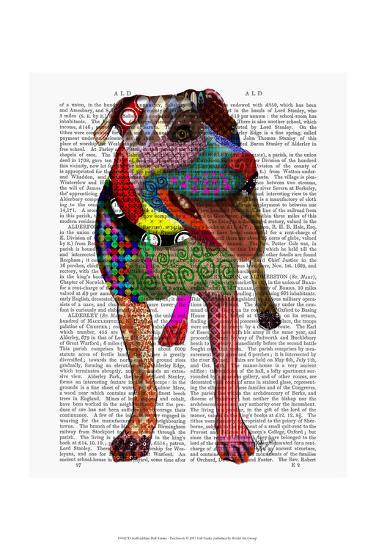 Staffordshire Bull Terrier - Patchwork-Fab Funky-Art Print