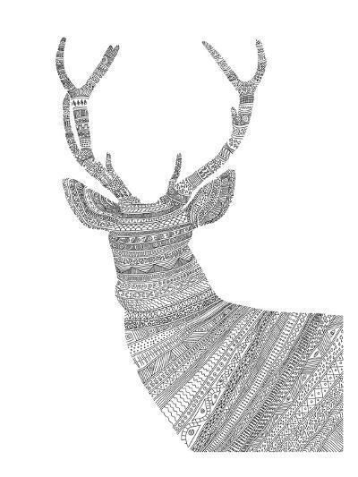 Stag 1-Florent Bodart-Art Print