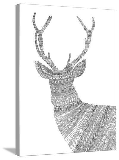Stag 1-Florent Bodart-Stretched Canvas Print