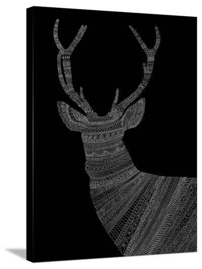 Stag 2-Florent Bodart-Stretched Canvas Print