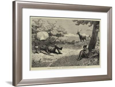 Stag-Driving in Mauritius, a Lost Opportunity--Framed Giclee Print