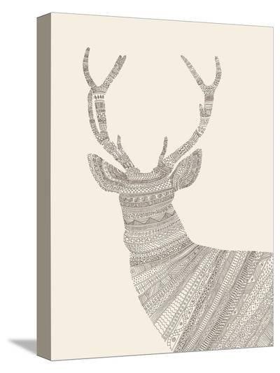 Stag-Florent Bodart-Stretched Canvas Print
