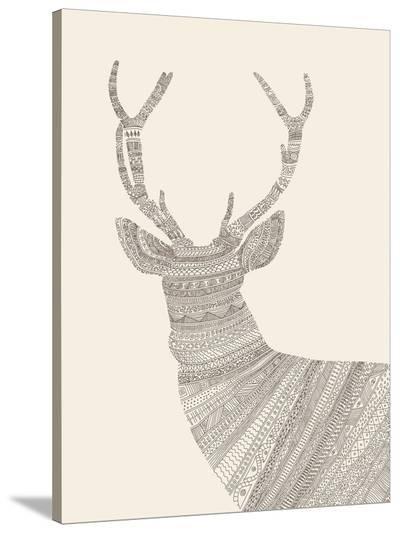 Stag-Florent Bodart-Stretched Canvas Print