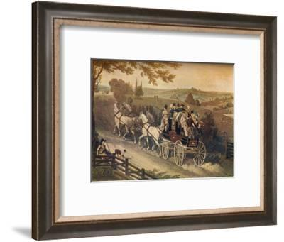 'Stage Coach', c19th century-Matthew Dubourg-Framed Giclee Print