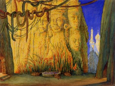 Stage Design for the Ballet Blue God by R. Hahn, 1911-L?on Bakst-Giclee Print