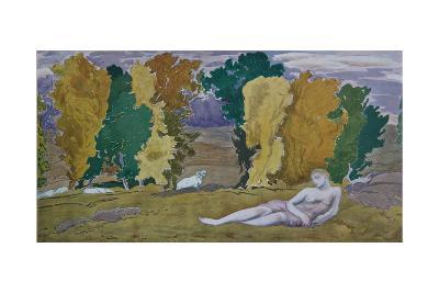 Stage Design for the Ballet Daphnis Et Chloé by M. Ravel, 1912-L?on Bakst-Giclee Print