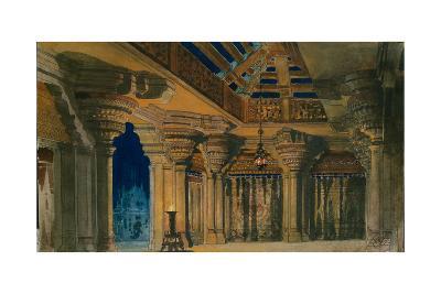 Stage Design for the Ballet La Bayadère by L. Minkus, 1884-Orest Karlovich Allegri-Giclee Print