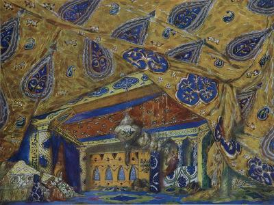 Stage Design for the Ballet Oriental Fantasy by Ippolitov-Ivanov and Mussorgsky, 1913-L?on Bakst-Giclee Print