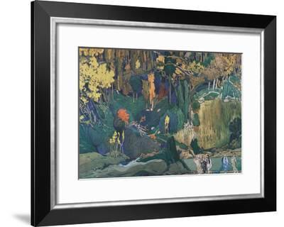 Stage Design for the Ballet the Afternoon of a Faun by C. Debussy, 1912-L?on Bakst-Framed Giclee Print