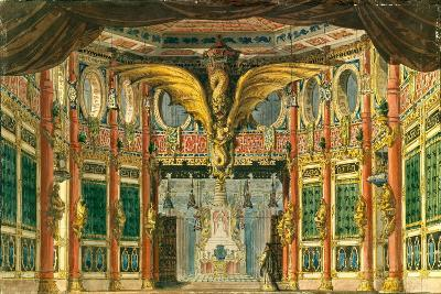 Stage Design for the Opera the Bronze Horse by D. Auber, 1837-Andreas Leonhard Roller-Giclee Print