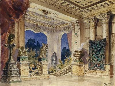 Stage Design for the Opera the Scarlet Rose by N. Krotkov, 1884-Vasili Dmitrievich Polenov-Giclee Print